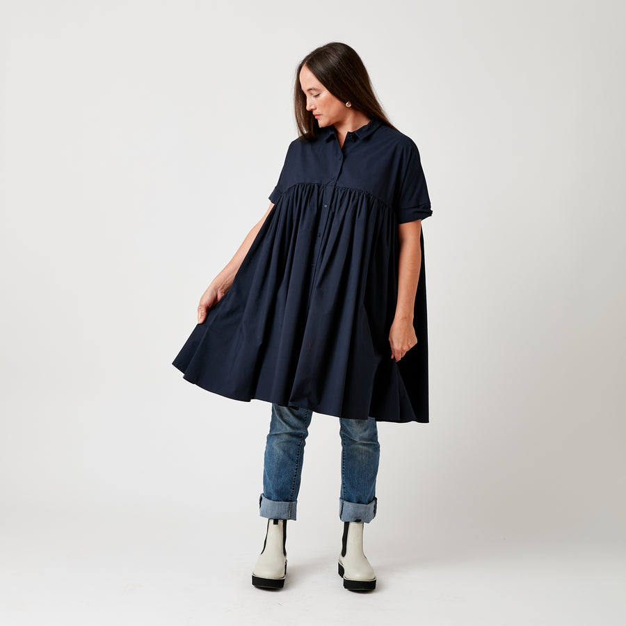 Apuntob Cotton Pleat Dress