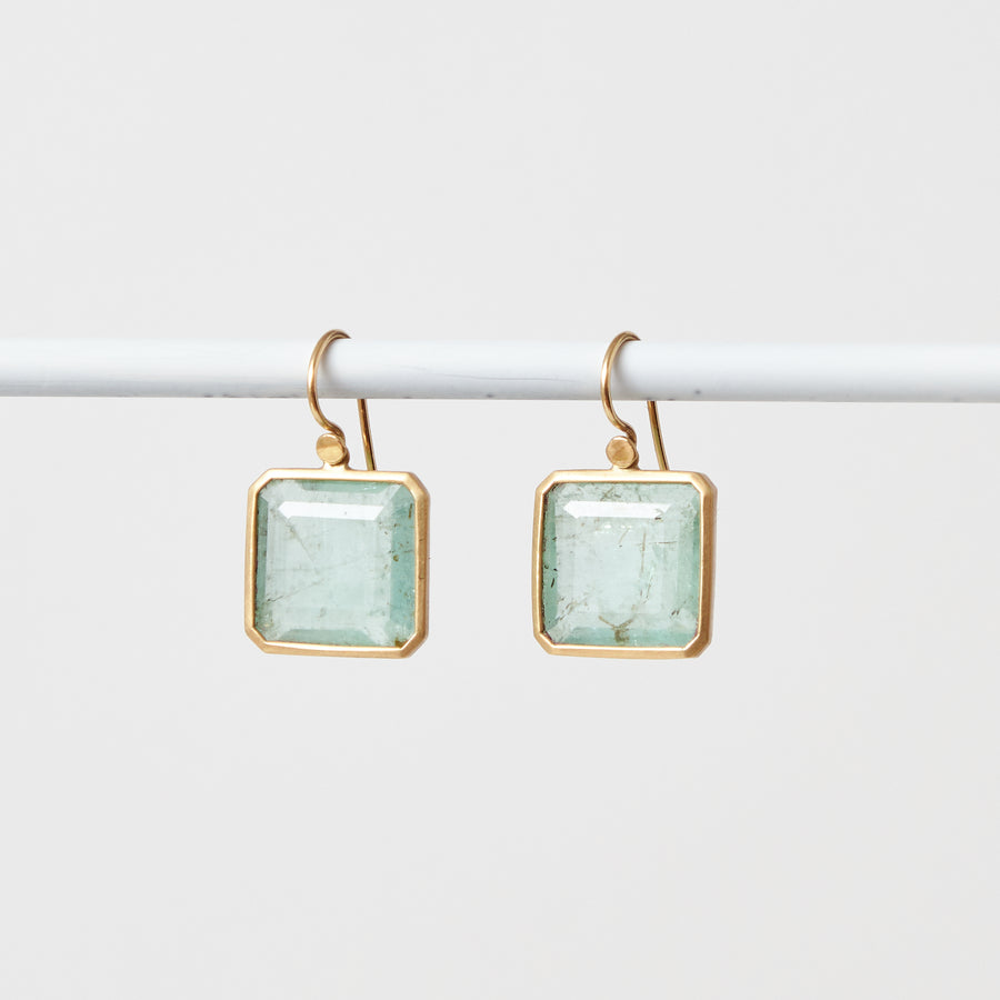 Emerald Square Earrings