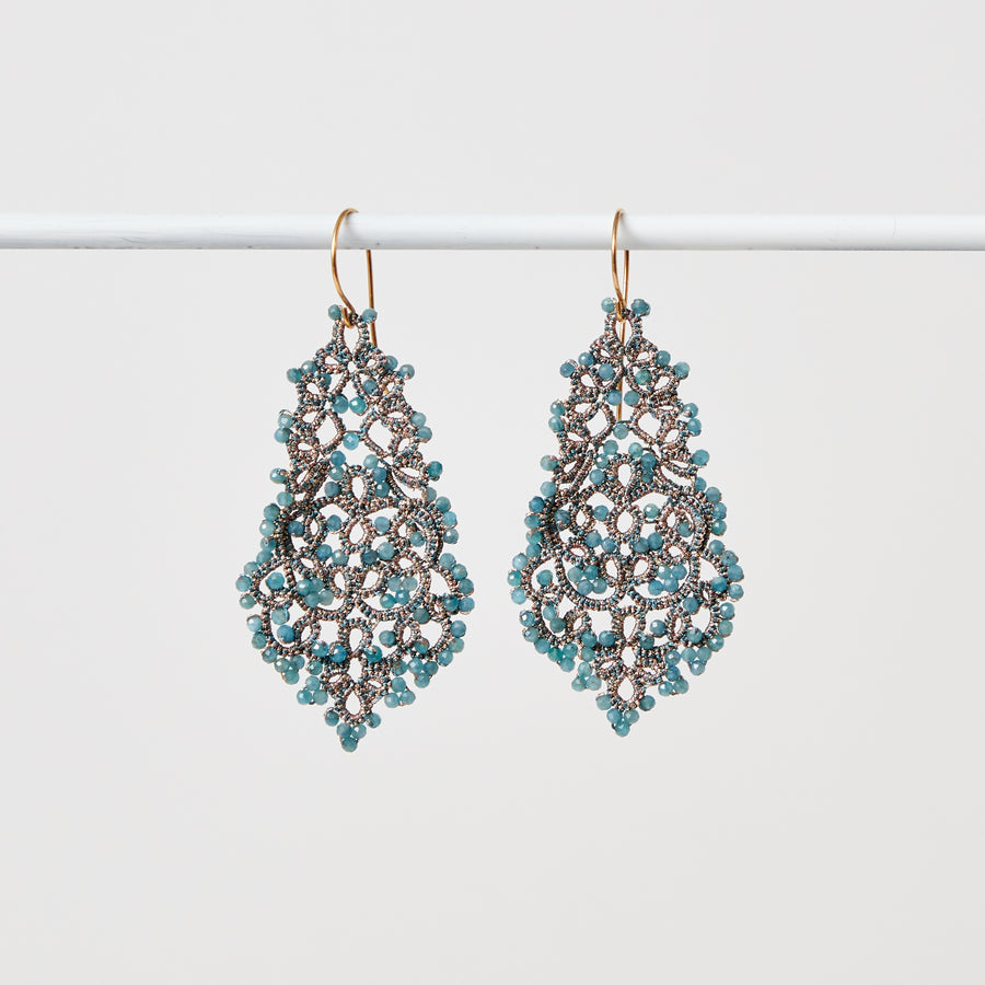 Apatite Lace Earrings