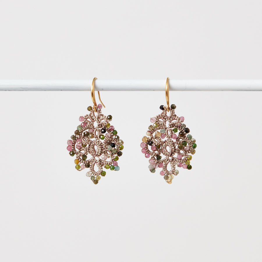 Tourmaline Lace Earrings