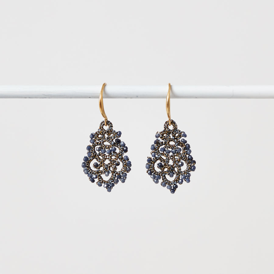 Petite Sapphire Lace Earrings