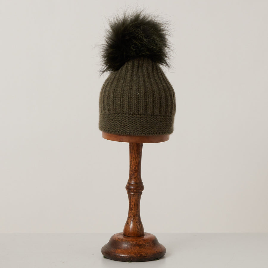 Hat with Pompom | Green