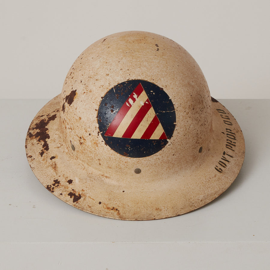 Vintage Vietnam Era Civil Defense Helmet