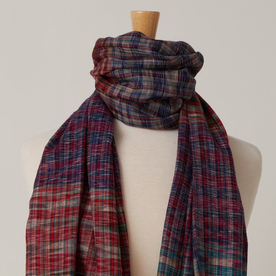 Andraab Multicolored Check Scarf