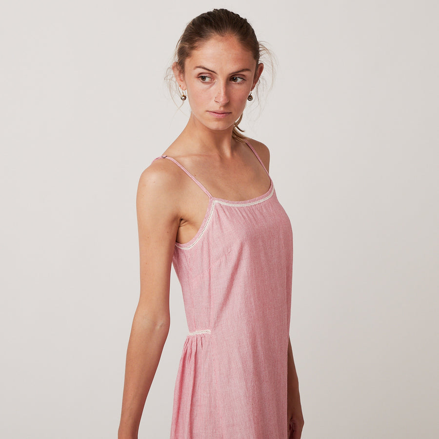 Domi Red Stripe Nightgown