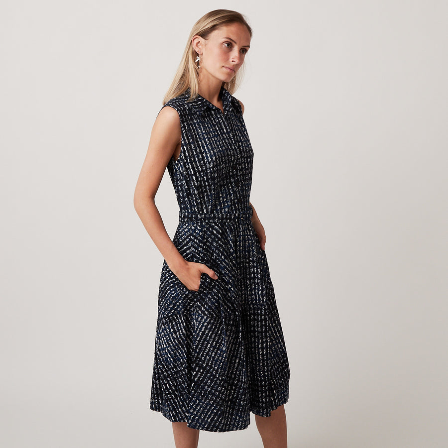 Samantha Sung Claire Dress in Woodbrook Check