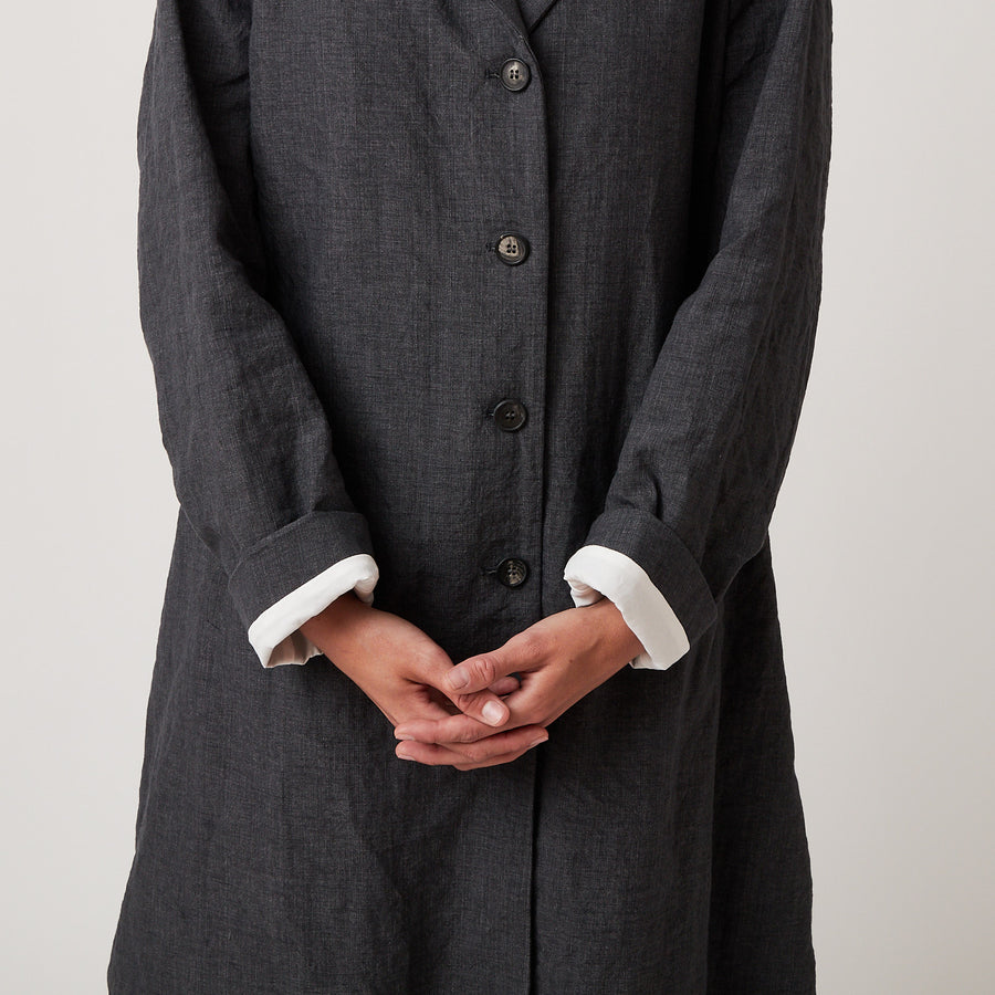 Bergfabel Farmer Coat in Navy-Grey