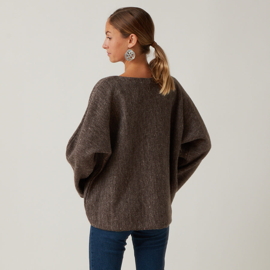 Ichi Antiquities Wool and Linen Pullover