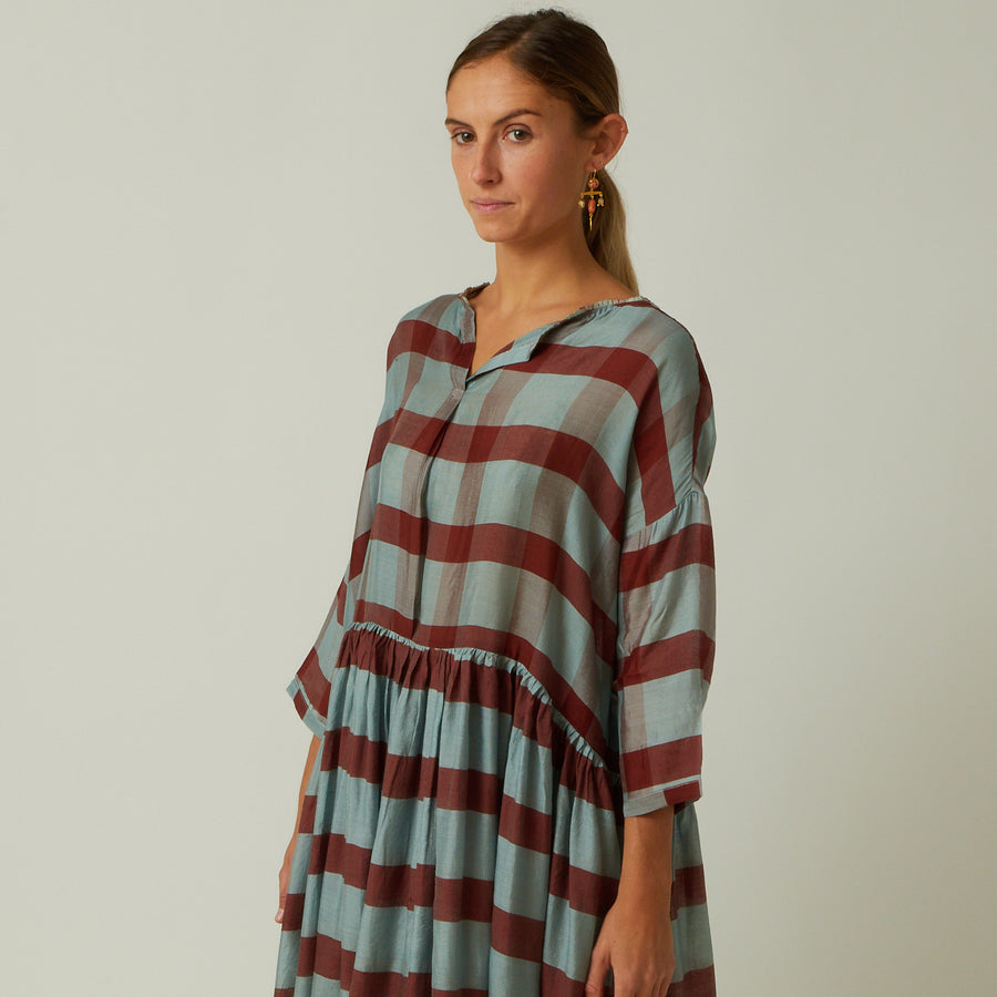 Runaway Bicycle Striped Silk Dress