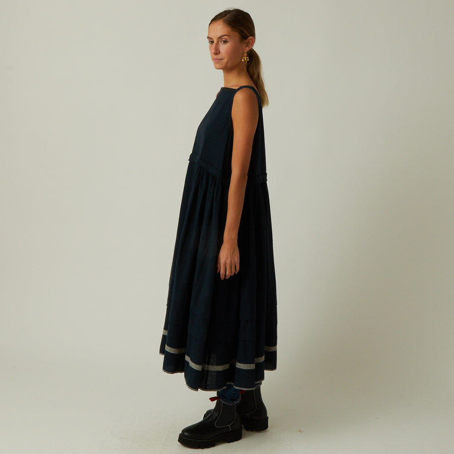 Runaway Bicycle Square Neck Cotton Dress