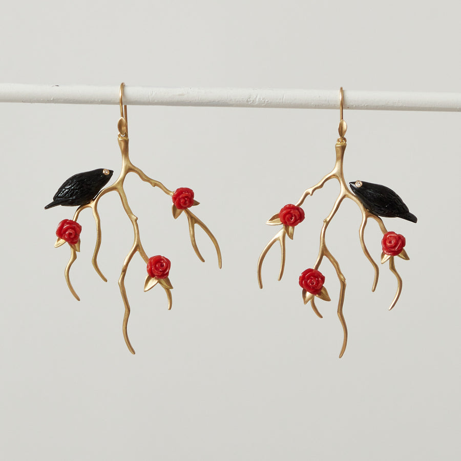 Annette Ferdinandsen Rose Branches with Birds