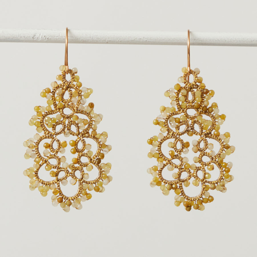 Yellow Opal Lace Earrings
