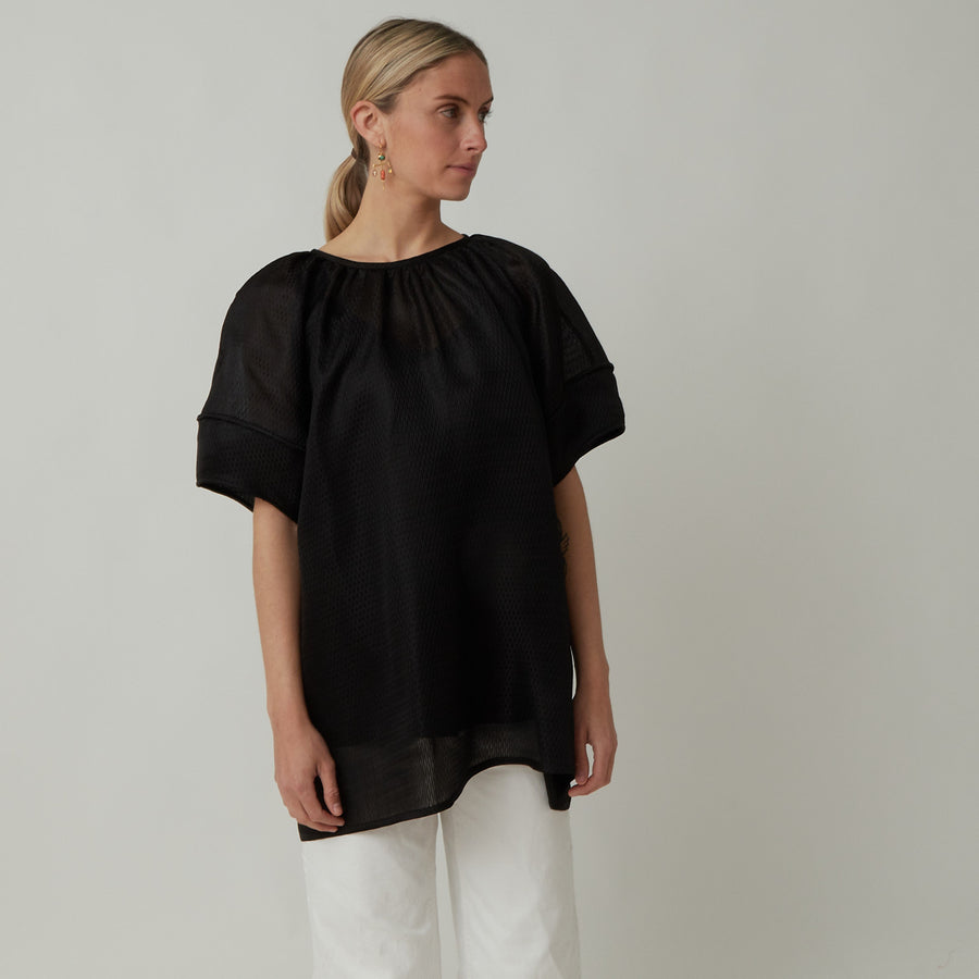 Arch The Silk Puff Sleeve Top