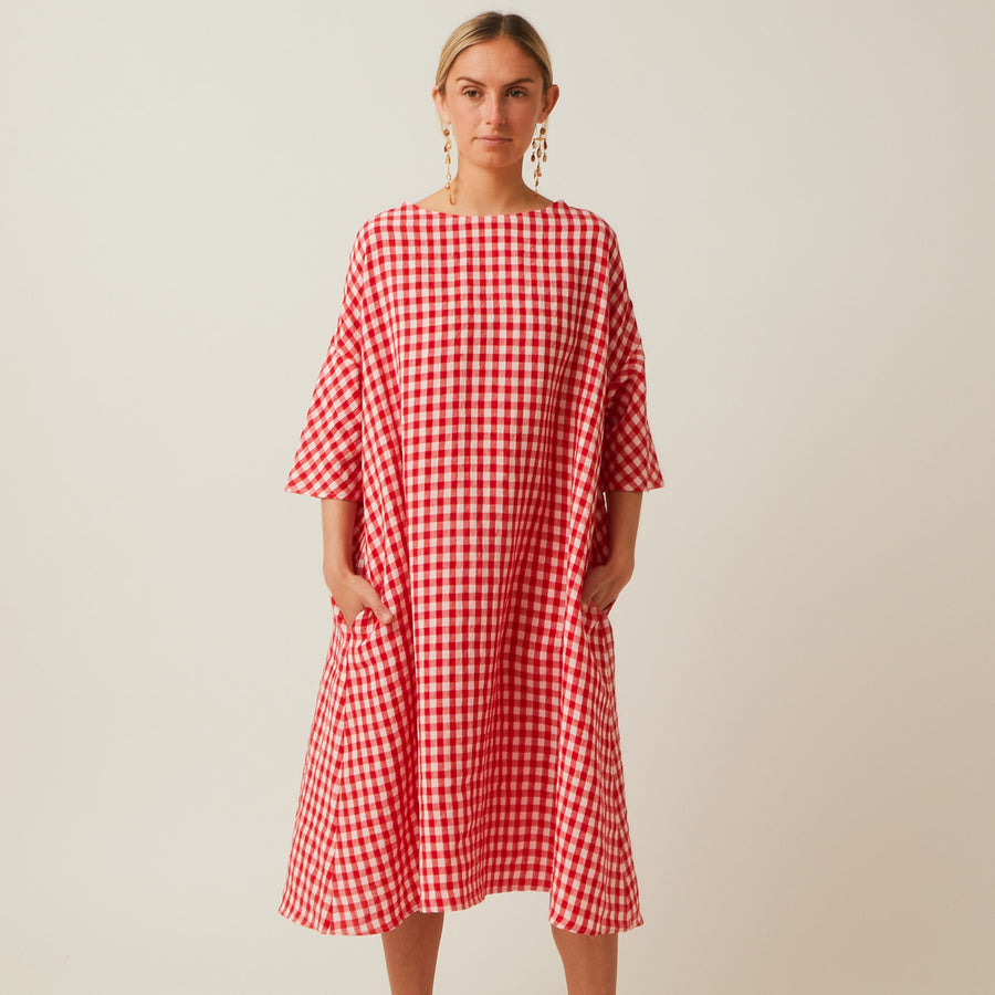 Apuntob Linen Swing Dress