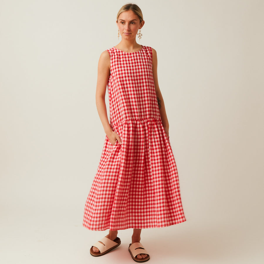 Apuntob Gingham Dress