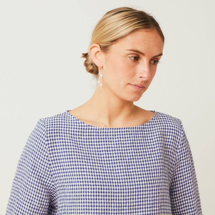 Apuntob Linen Fitted Shoulder Top