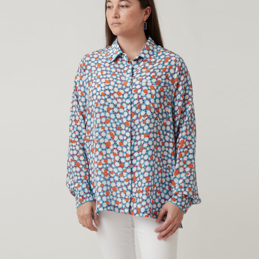 An An Londree Pocket Blouse Blue