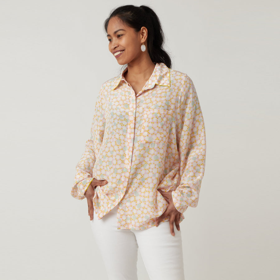 An An Londree Pocket Blouse Yellow