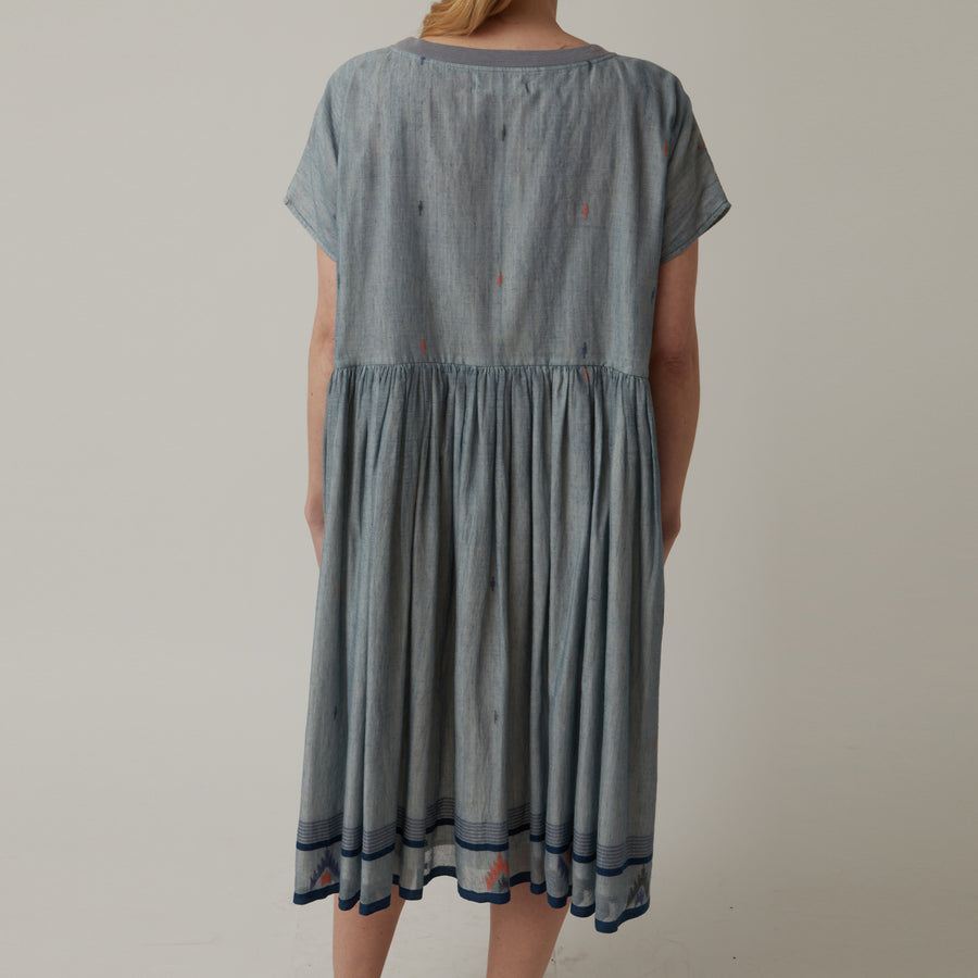 AO Dress Blue Pleat Dress Sale