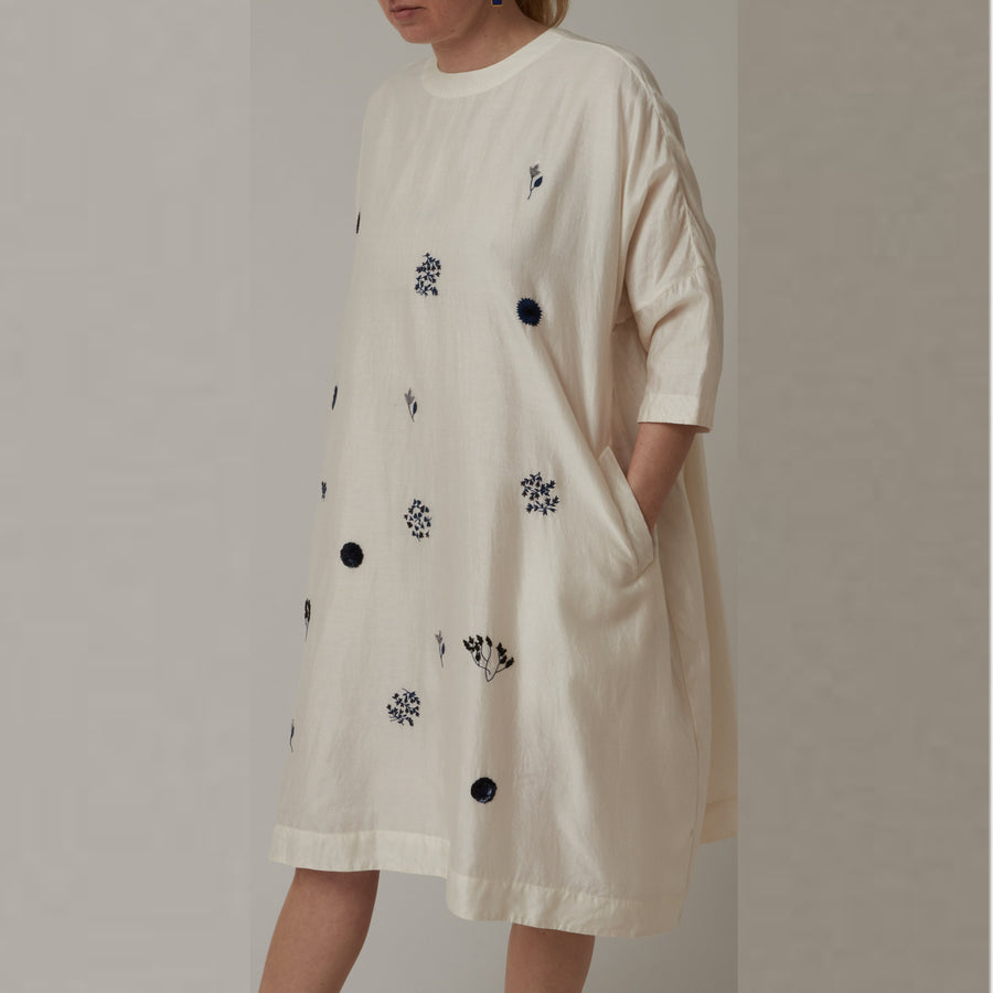 AO Dress Two Tone Embroidered Dress