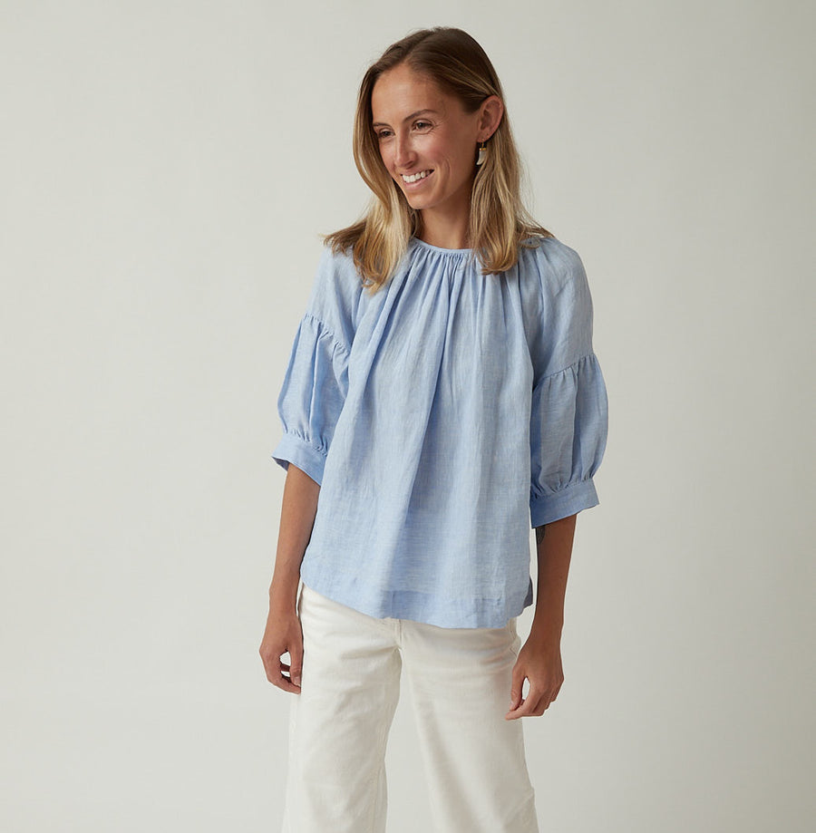 Bergfabel Linen Balloon Shirt