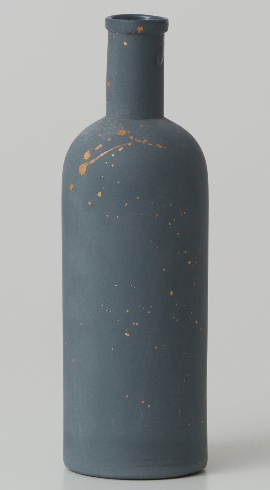 Small Porcelain Vase  with Gold Splatter