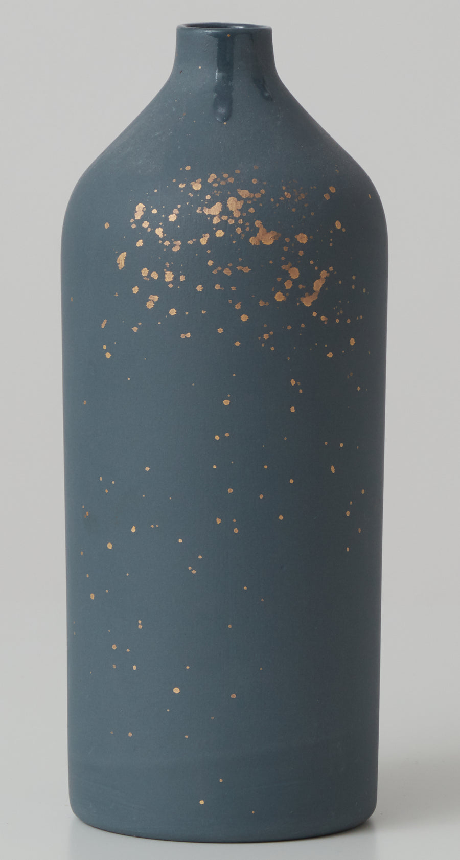 Large Porcelain Gold Splatter Vase