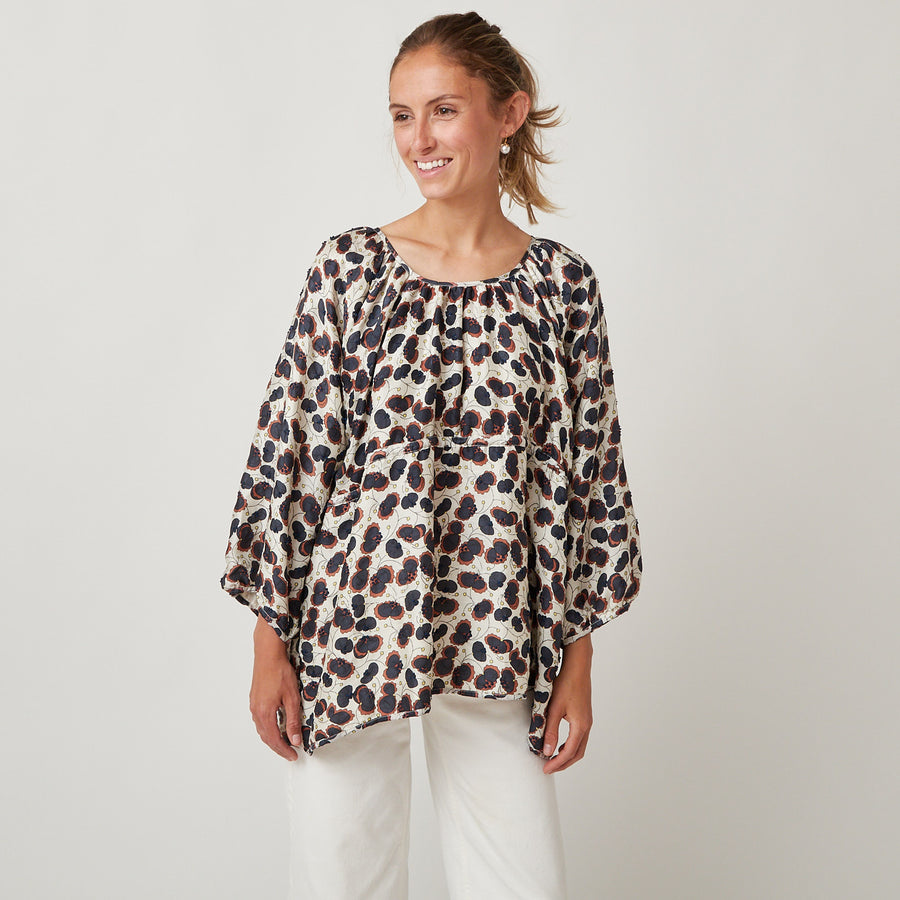 Bunon Flower Silk Top