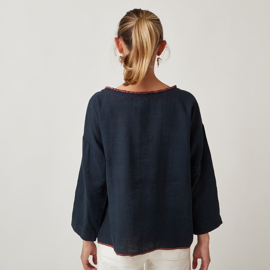 Runaway Bicycle Linen Top