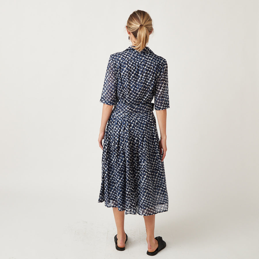 Samantha Sung Audrey Dress in Channel Tweed