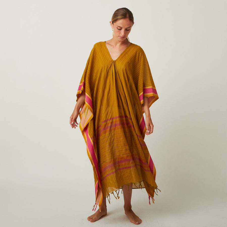 TWO Ochre Kaftan
