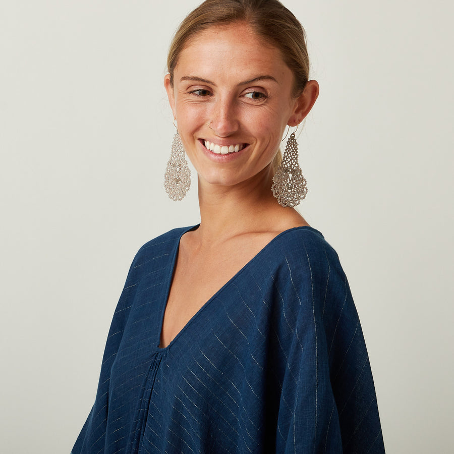 TWO Indigo Metalic Kaftan