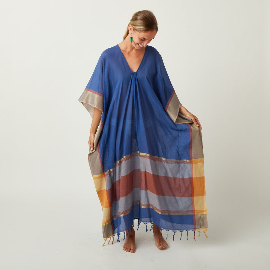 TWO Blue Sunset Kaftan
