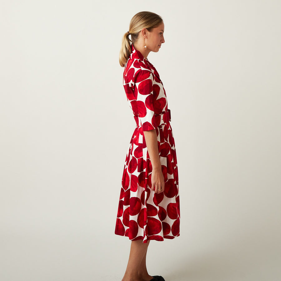 Samantha Sung Audrey Red Pebble Dress