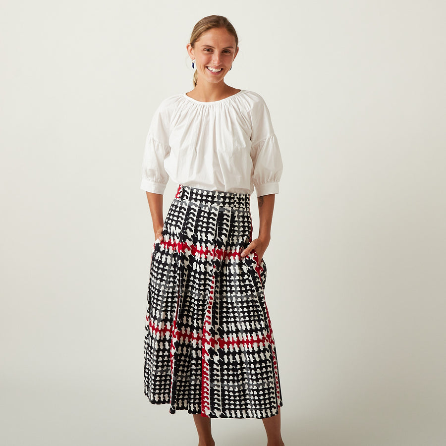 Samantha Sung Plaid Skirt