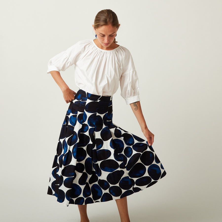 Samantha Sung Blue Pebble Skirt