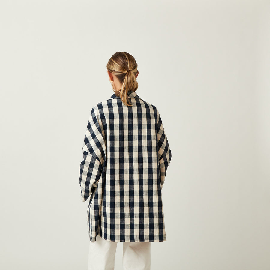Apuntob Gingham Coat