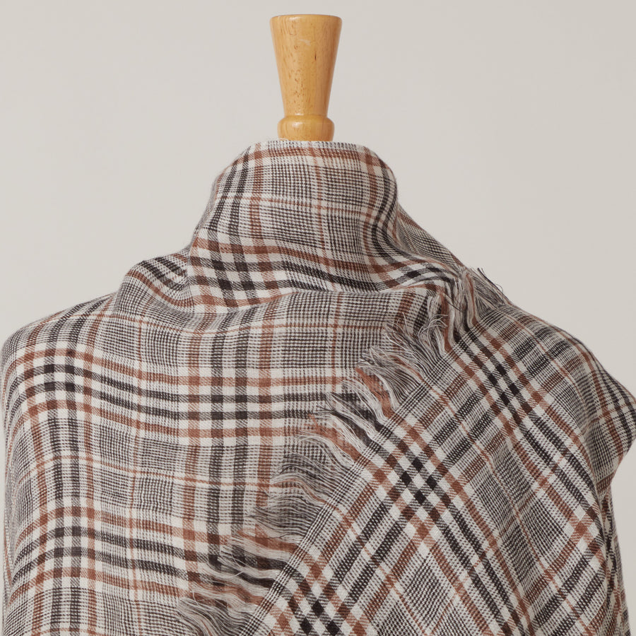 Destin Linen Cape Brown Check