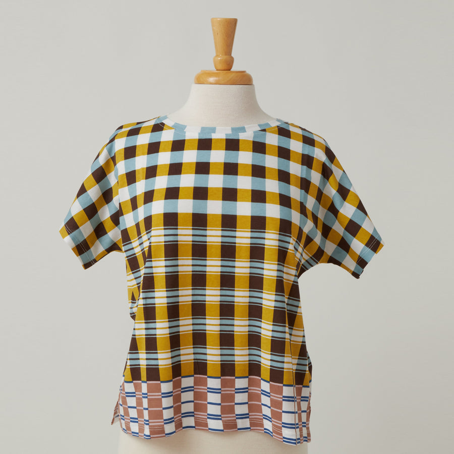 Epice Boxy Cut Checkerboard TShirt