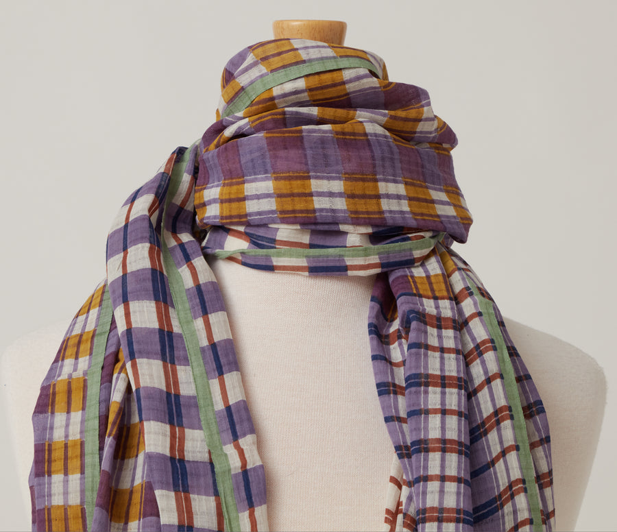 Epice Cotton Check Scarf
