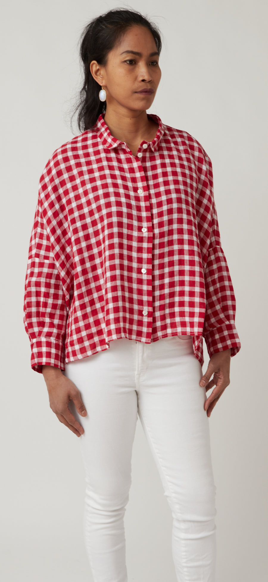 Gallego Supra Gingham Top