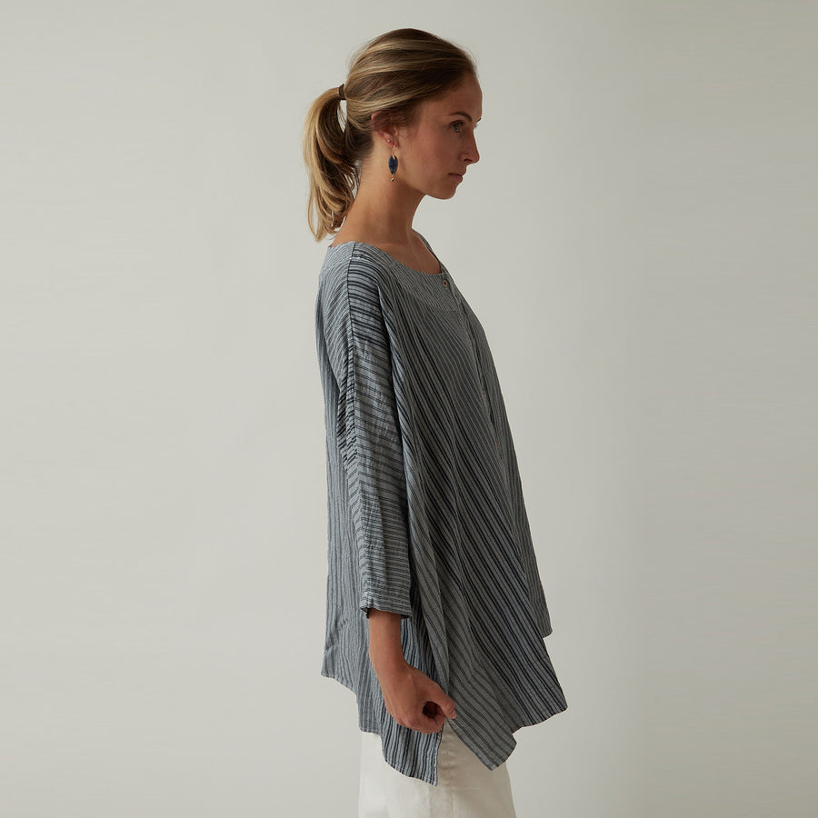 Hannoh + Caroline Shirt Light Blue Stripe