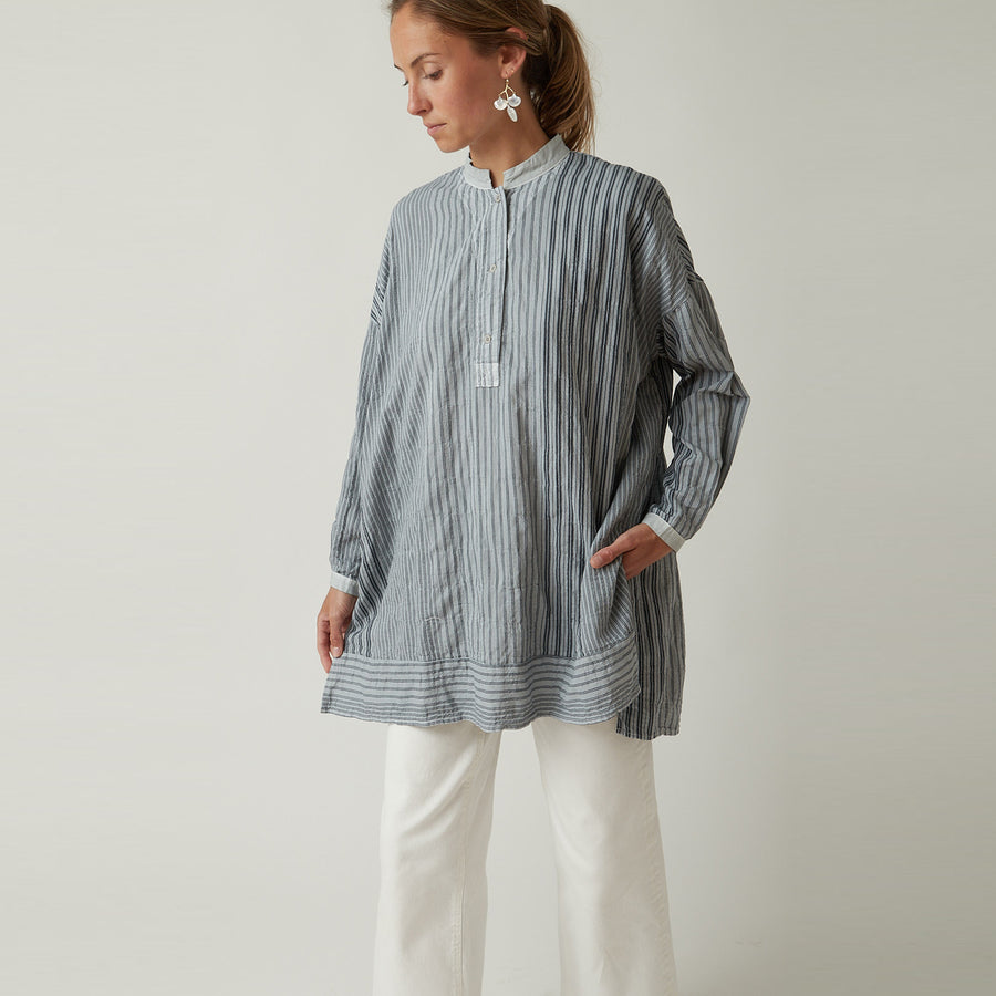 Hannoh + Charlotte Shirt Light Blue Stripe