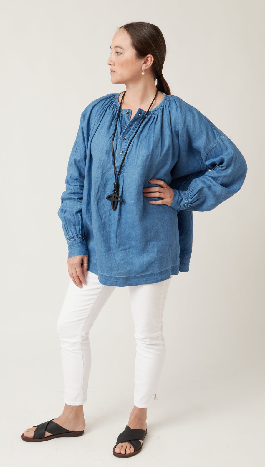 Ichi Antiquities Chambray Top