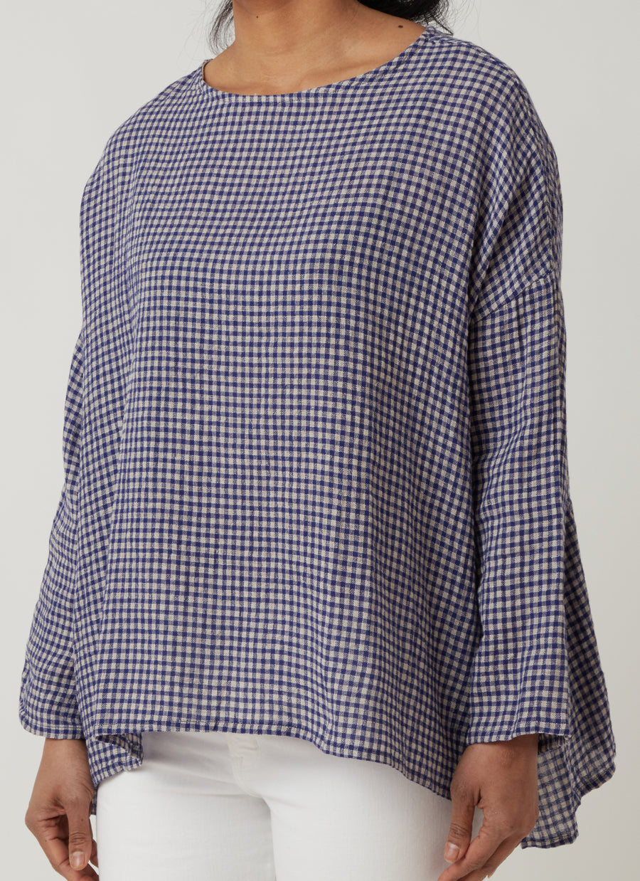Ichi Antiquities Gingham Pullover