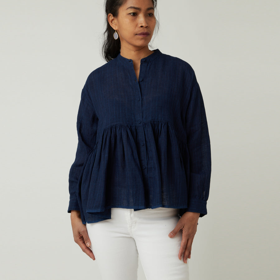 Maison de Soil Dark Indigo Top