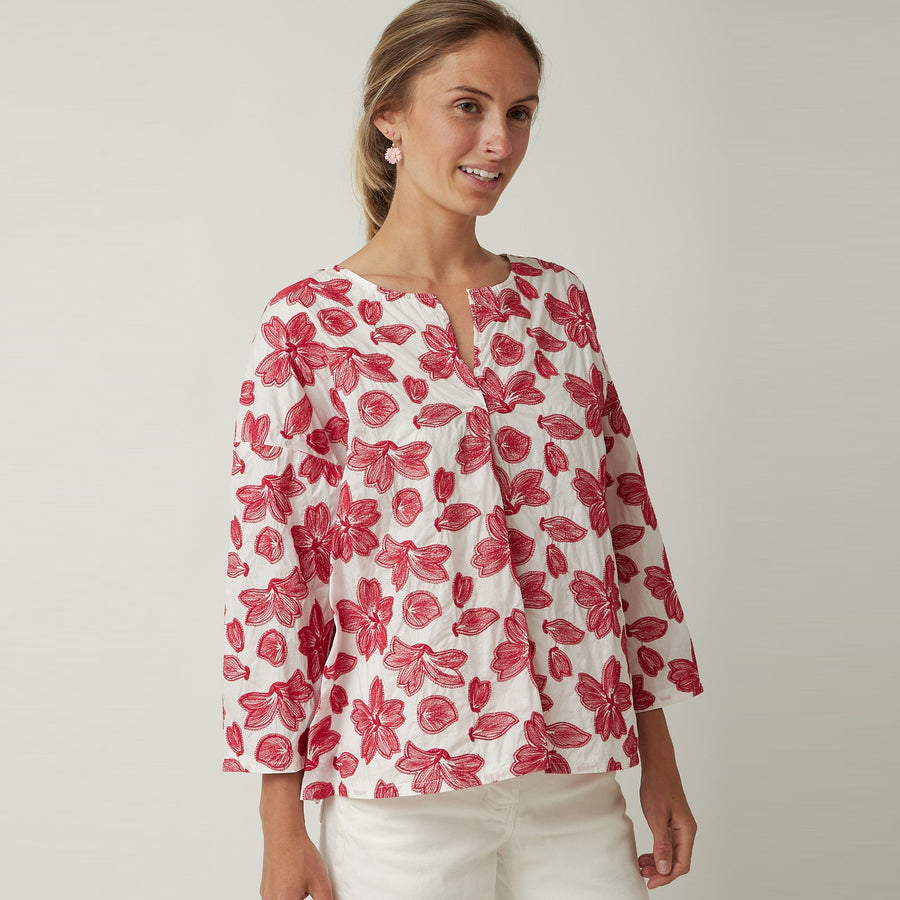 Manuelle Guibal Floral Top