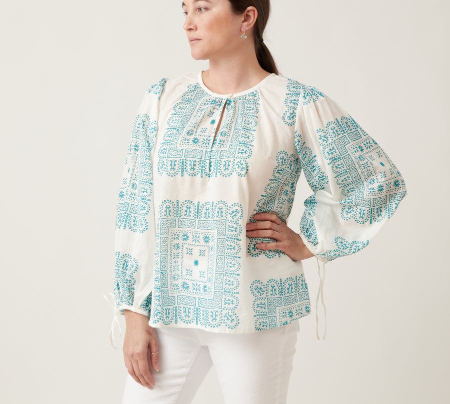 Antik Batik Nalii Blouse Green