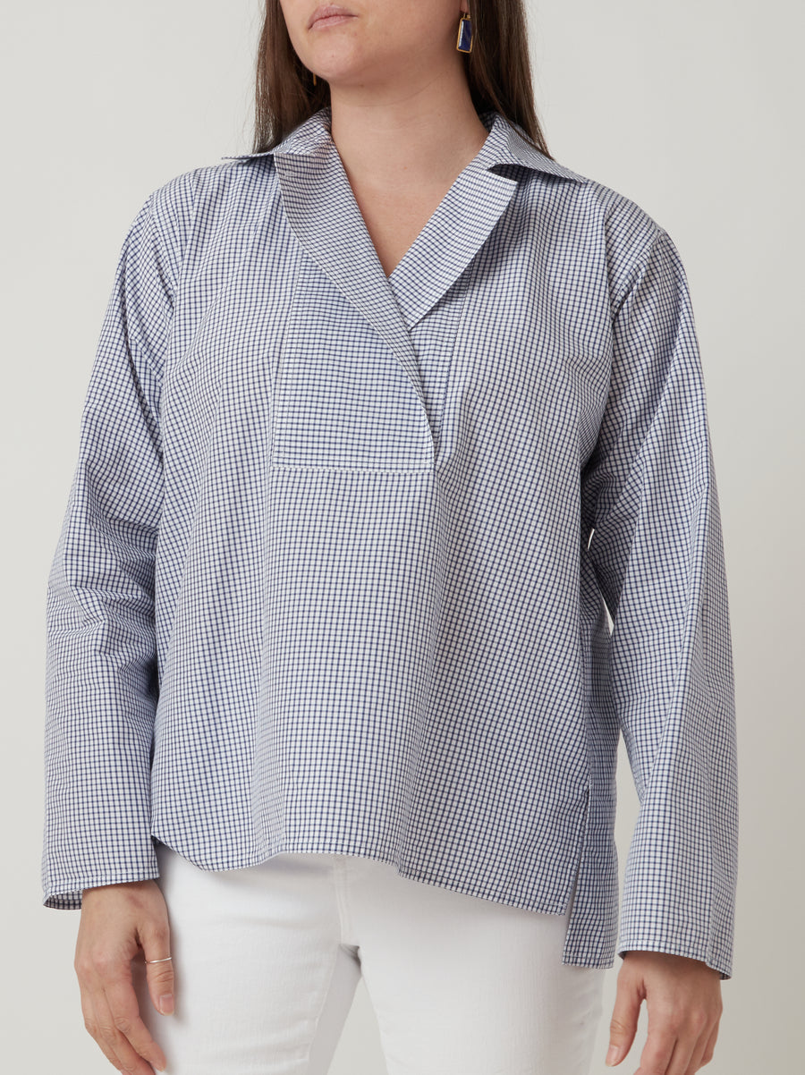 Sofie D'Hoore Bailey Top Blue/White
