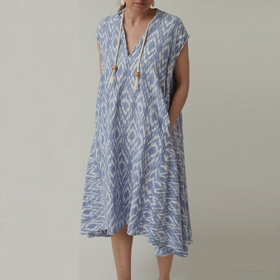 Uqnatu Dervish Dress in Ikat Sale